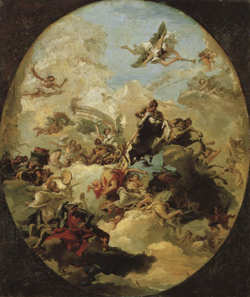 Apotheosis Of Hercules | Giovanni Domenico Tiepolo | Oil Painting