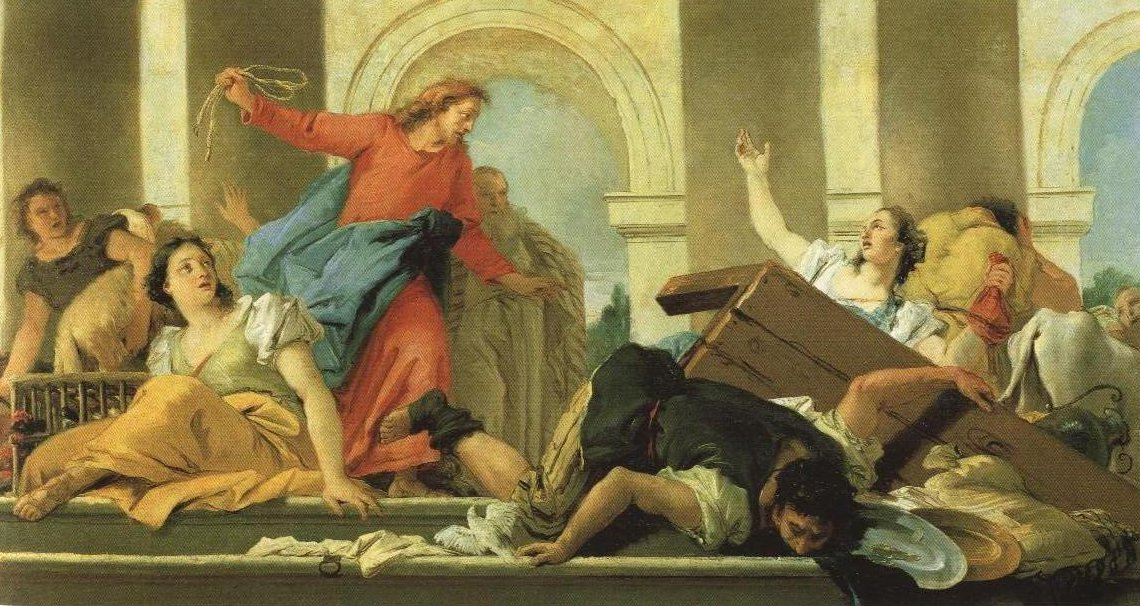 The Expulsion From The Temple | Giovanni Domenico Tiepolo | Oil Painting