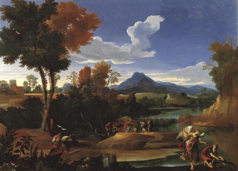 Landscape With Tobias And The Angel | Giovanni Francesco Grimaldi | Oil Painting
