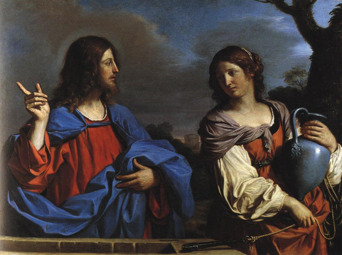 Christ And The Samaritan Woman At The Well | Guercino | Oil Painting
