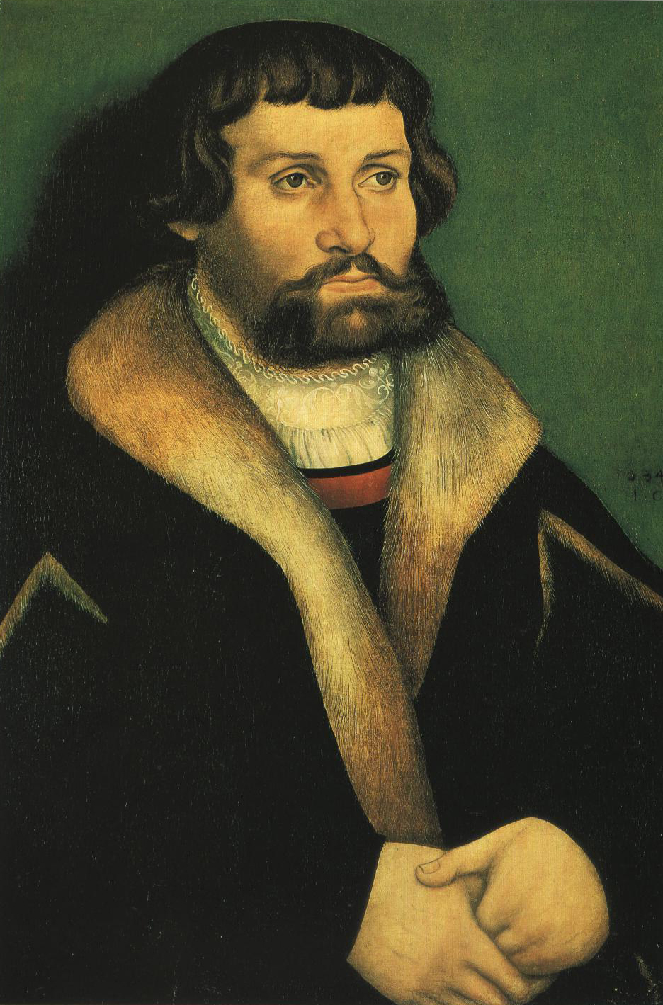Portrait Of A Bearded Man   Hans Cranch   Oil Painting