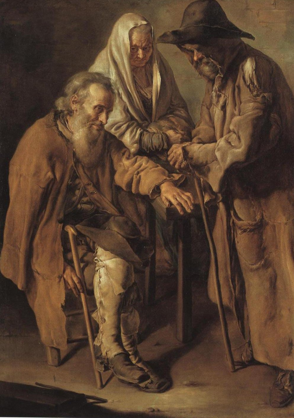 Group Of Beggars | Giacomo Ceruti | Oil Painting
