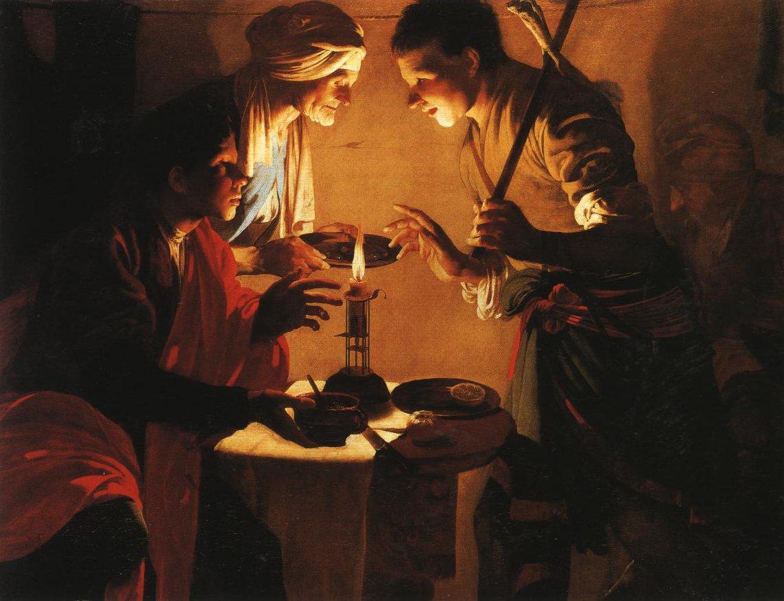 Esau Selling His Birthright | Hendrik Terbrugghen | Oil Painting