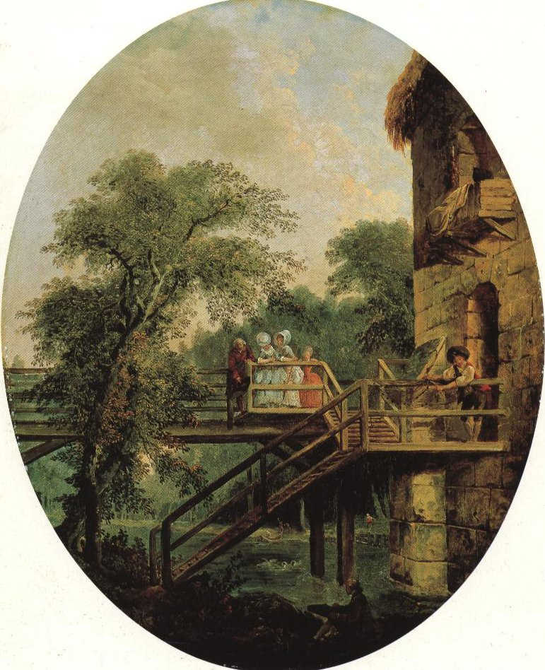 The Foot Bridge | Hubert Robert | Oil Painting