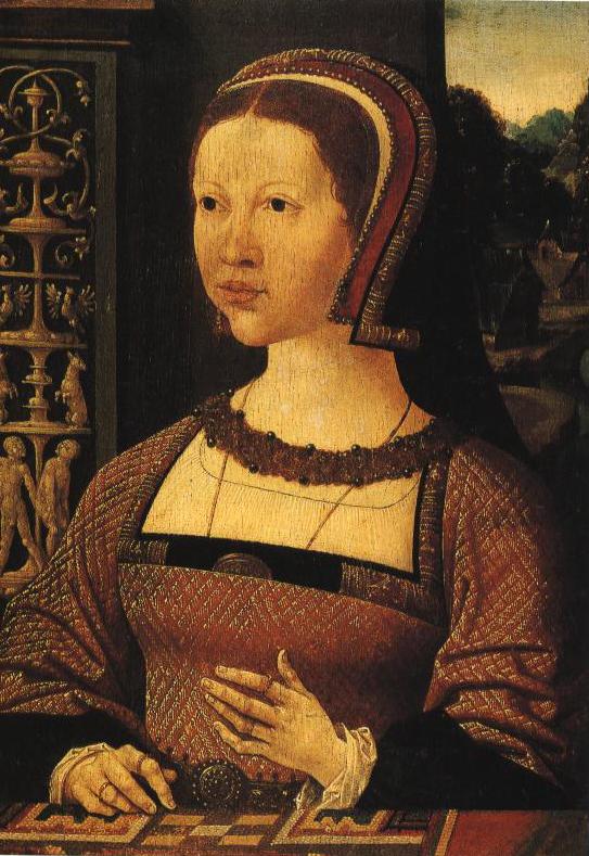 Portrait Of A Lady Queen Elizabeth Of Denmark   Jacob Cornelisz Van Oostanen   Oil Painting