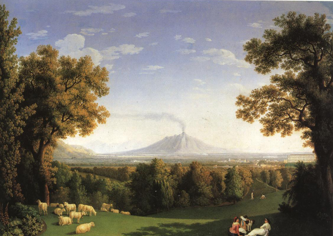 View Of An English Garden At Caserta | Jacob Philipp Hackert | Oil Painting