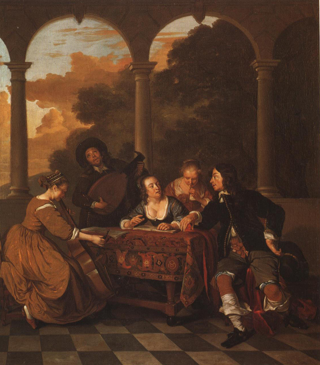Group Of Musicians | Jacob Van Loo | Oil Painting