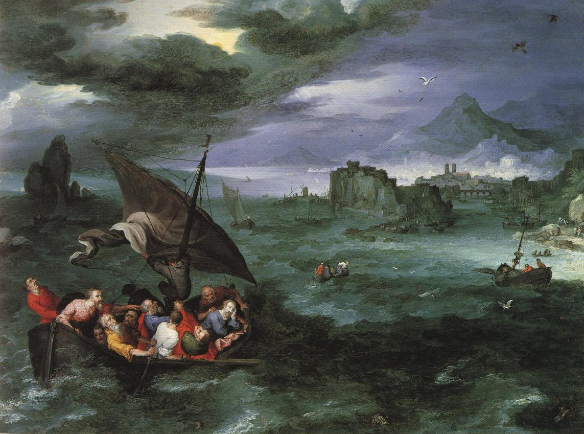 Christ In The Storm On The Sea Of Galilee | Jan Brueghel I | Oil Painting