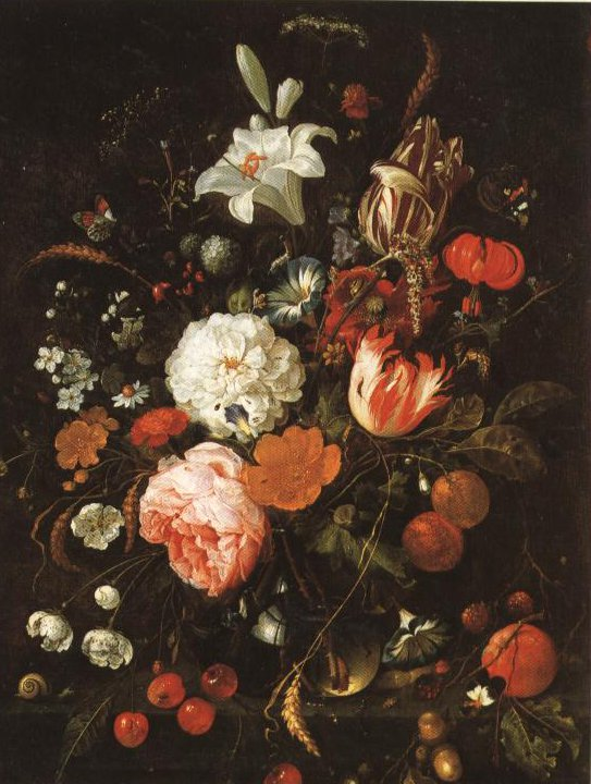 Flowers In A Glass Vase | Jan Davidsz De Heem | Oil Painting