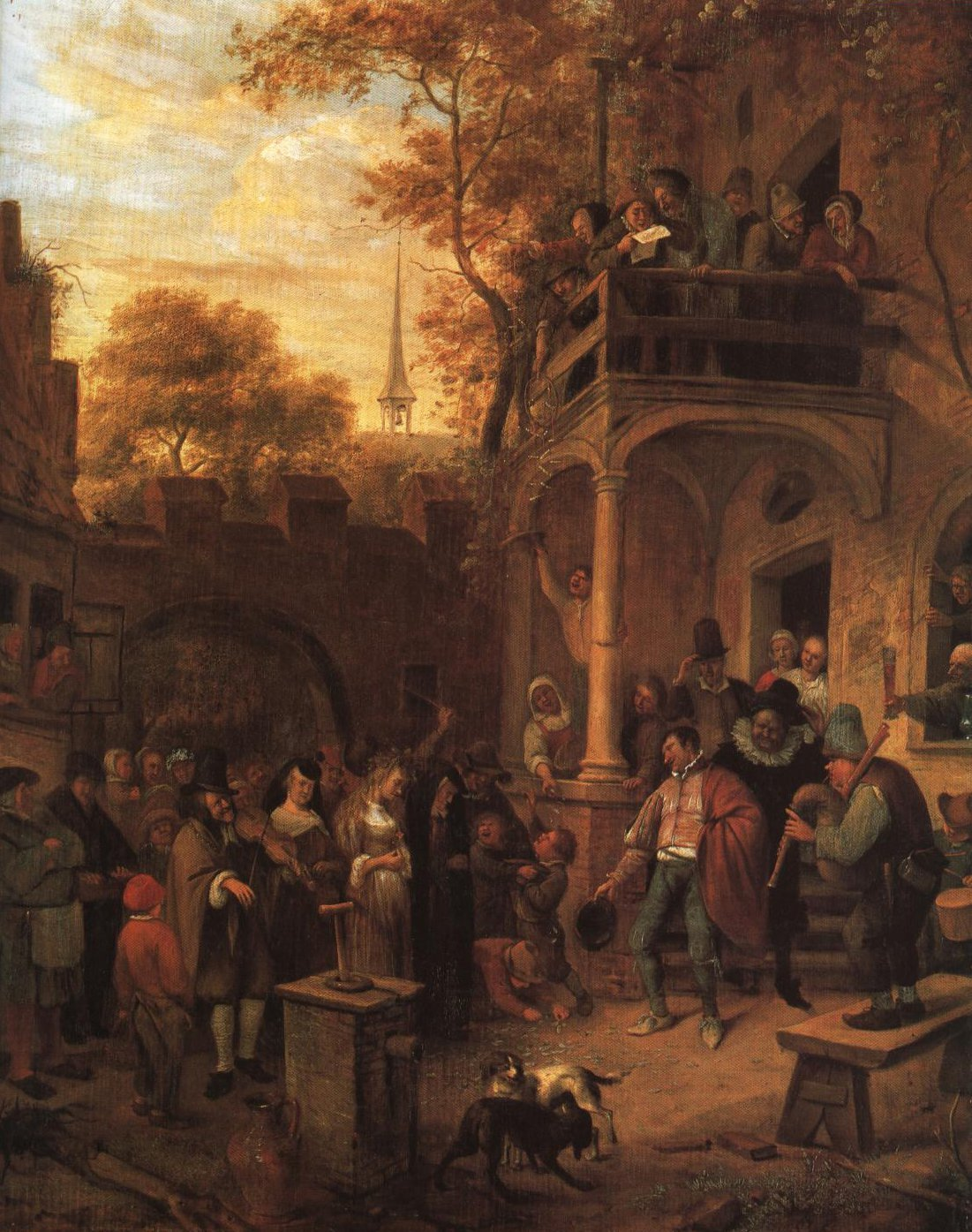 Wedding Scene | Jan Havicksz Steen | Oil Painting