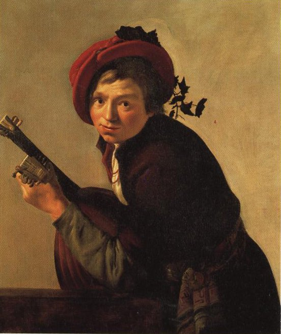 Young Man Playing A Lute | Jan Hermansz Van Bijlert | Oil Painting