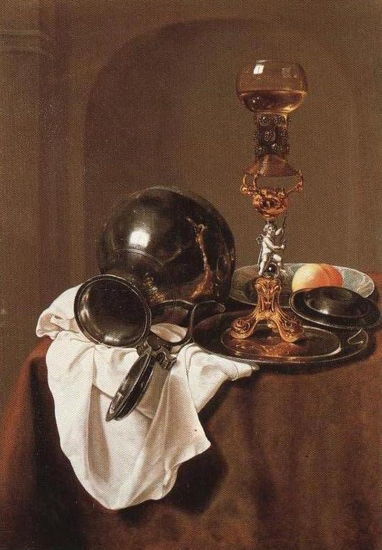 Wine Glass Stand Pewter Jug And Other Objects On A Table | Jan Jansz Treck | Oil Painting
