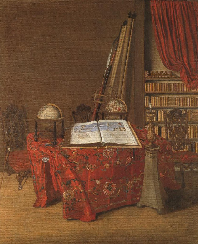 Interior Of A Study | Jan Jansz Van Der Heyden | Oil Painting