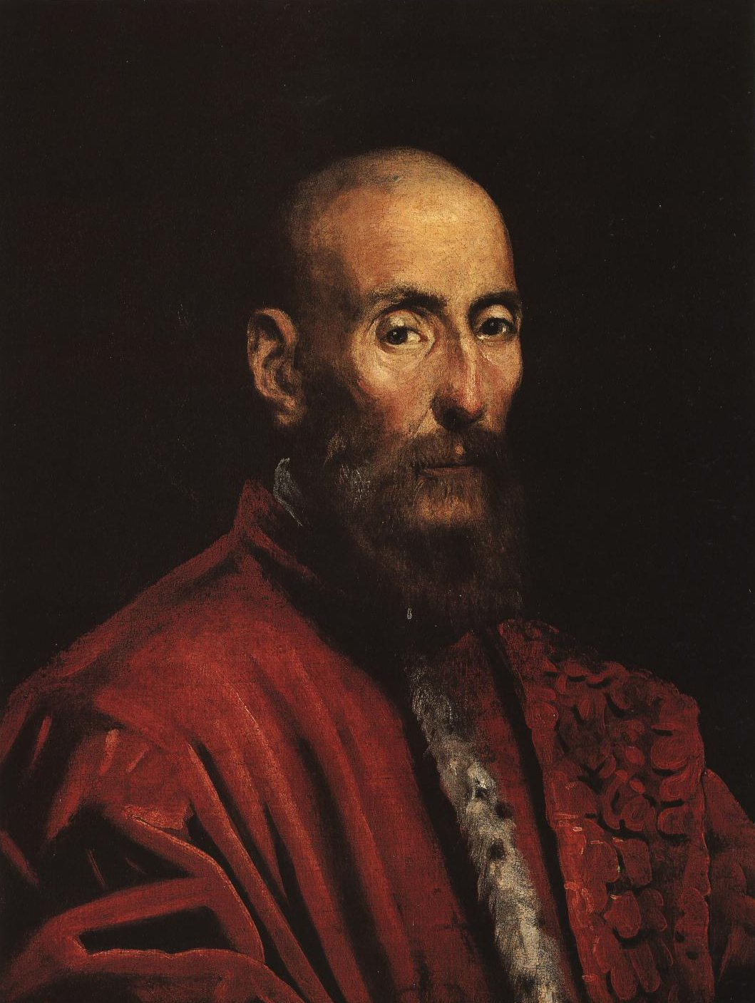 Portrait Of A Senator Circa 1580   Jacopo Tintoretto   Oil Painting