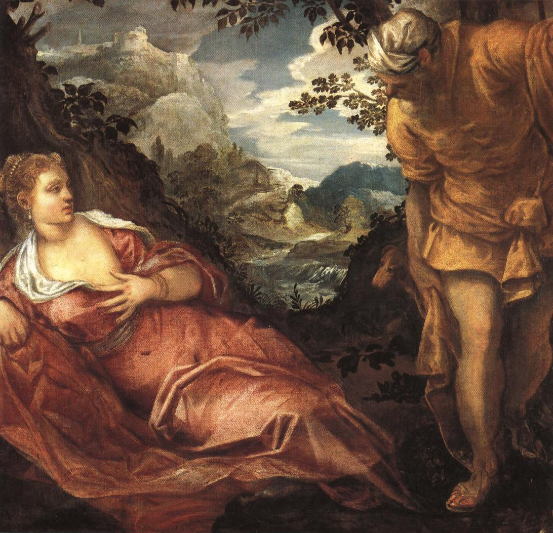 The Meeting Of Tamar And Judah | Jacopo Tintoretto | Oil Painting