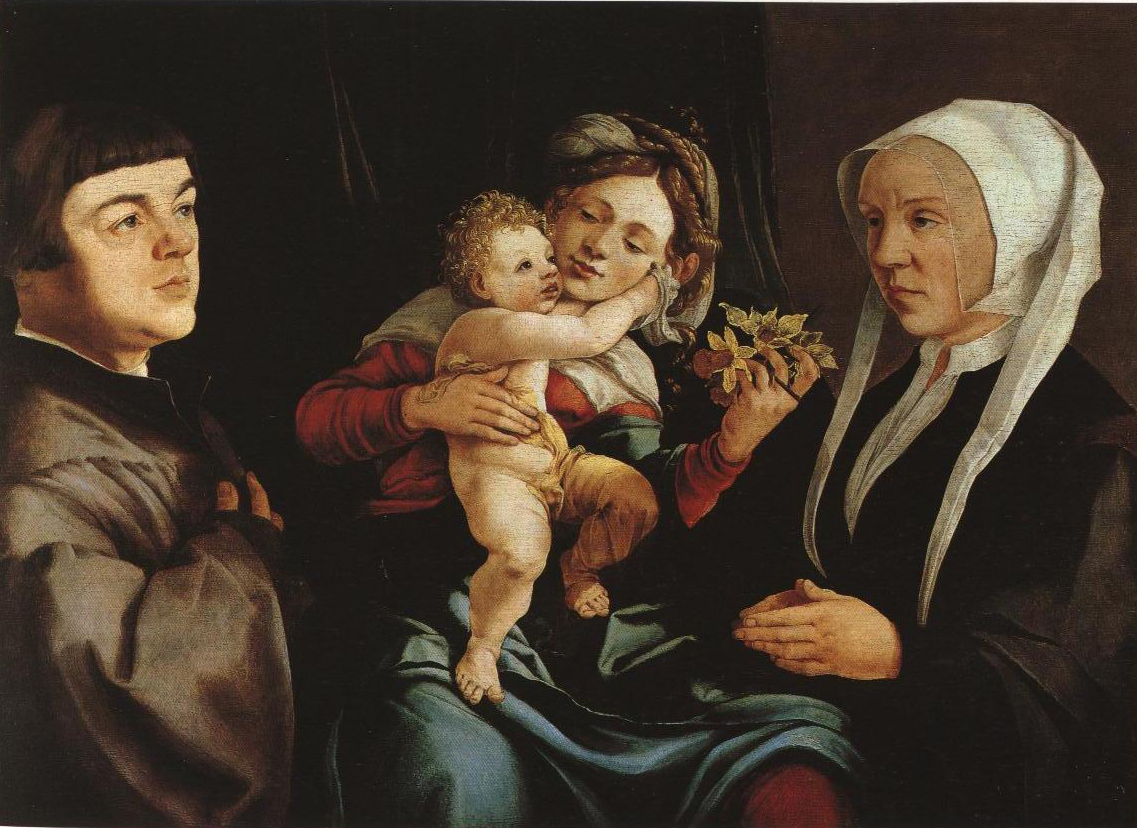 Madonna Of The Daffodils With Donors Epitaph | Jan Van Scorel | Oil Painting