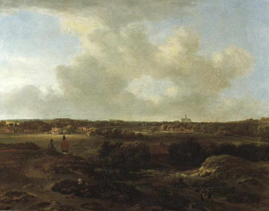 View Of Haarlem From The Dunes | Jan Vermeer Ii Van Haarlem | Oil Painting