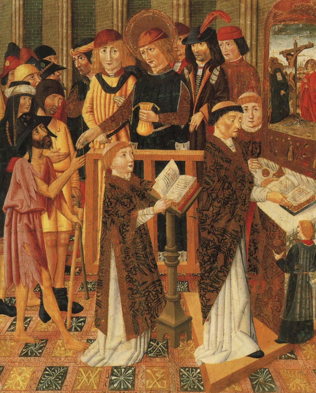 The Giving Of Alms To The Pilgrims | Jaume Huguet | Oil Painting
