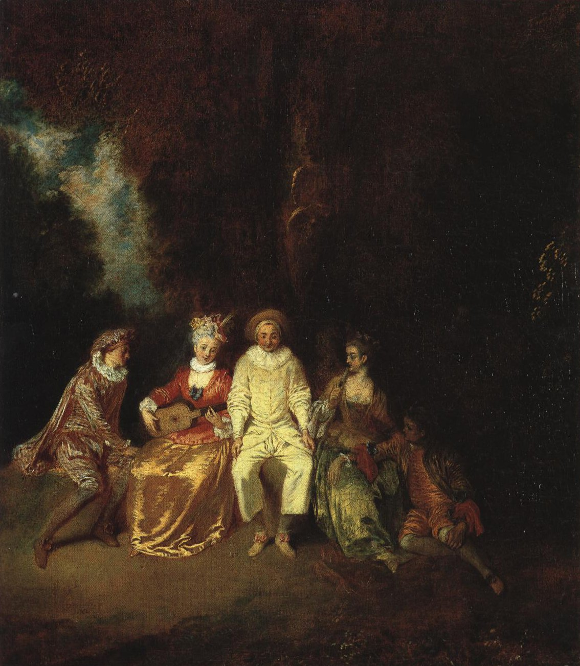 Pierrot Content | Jean Antoine Watteau | Oil Painting