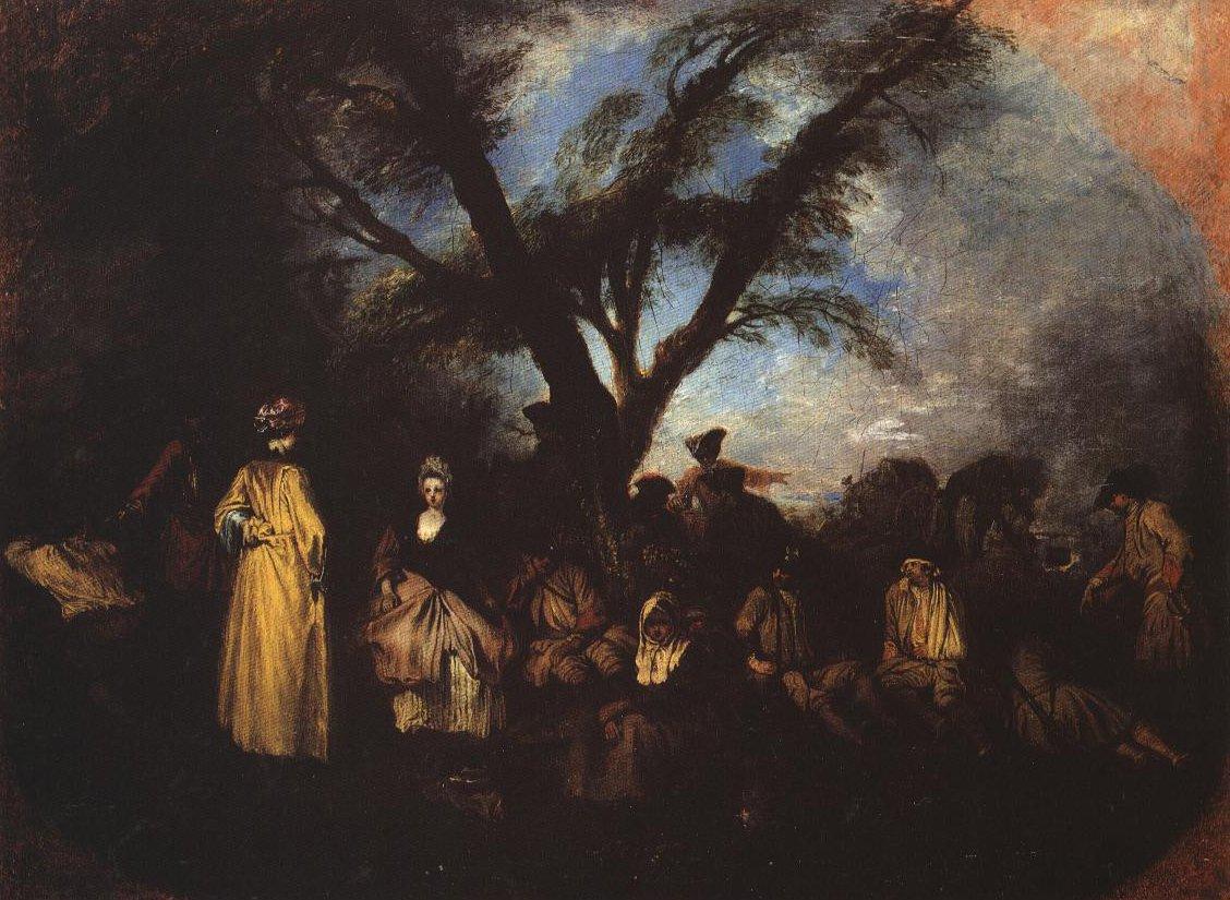 The Rest | Jean Antoine Watteau | Oil Painting