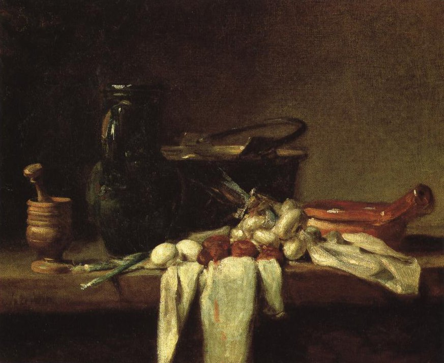 Still Life With Jug And Copper Cauldron | Jean Baptist Simeon Chardin | Oil Painting
