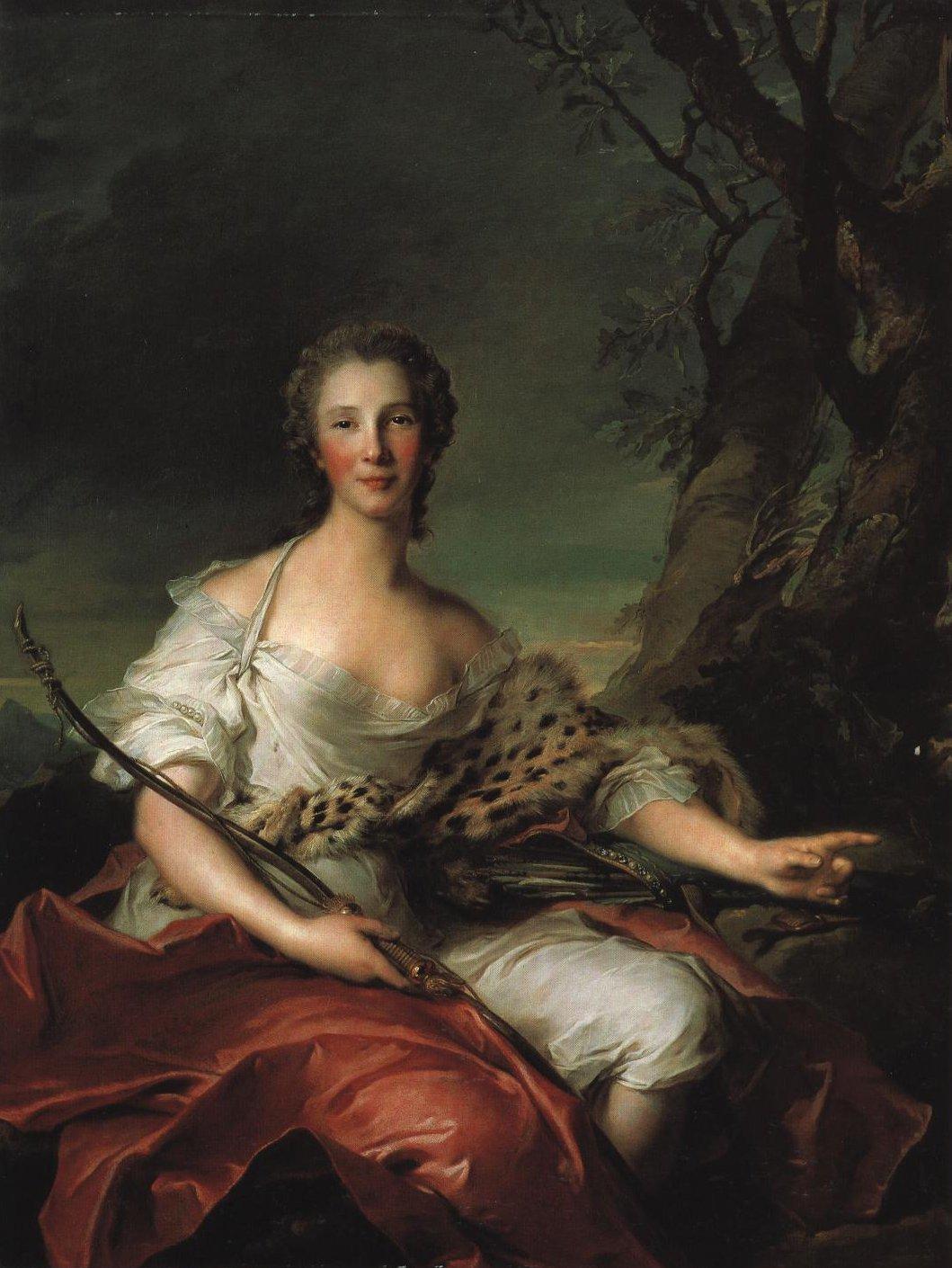 Portrait Of Madame Bouret As Diana | Jean Marc Nattier | Oil Painting