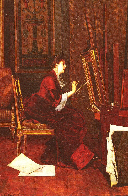 LArtiste Dans Latelier | Jules Adolphe Goupil | Oil Painting