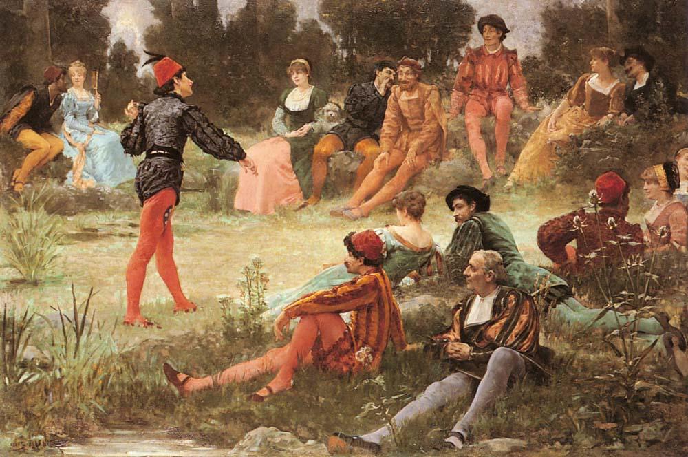 The Performance | Jules Arsene Garnier | Oil Painting