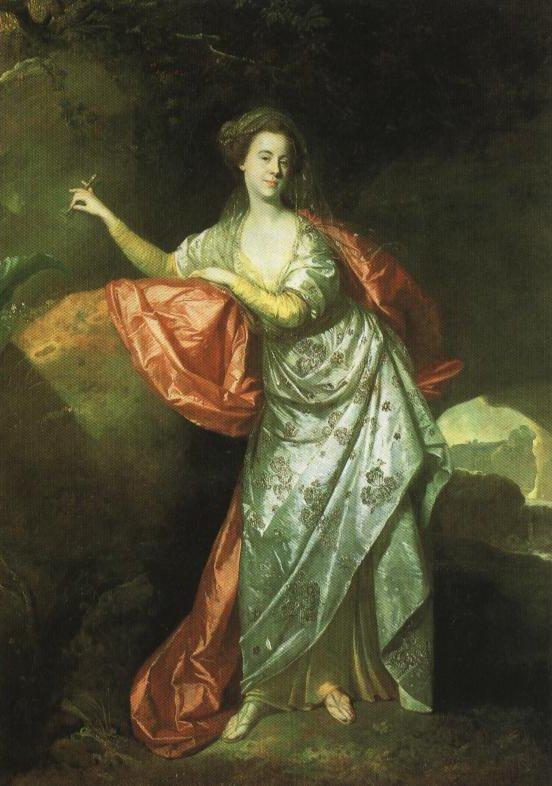 Portrait Of Miss Ann Brown In The Role Of Miranda   Johann Zoffany   Oil Painting