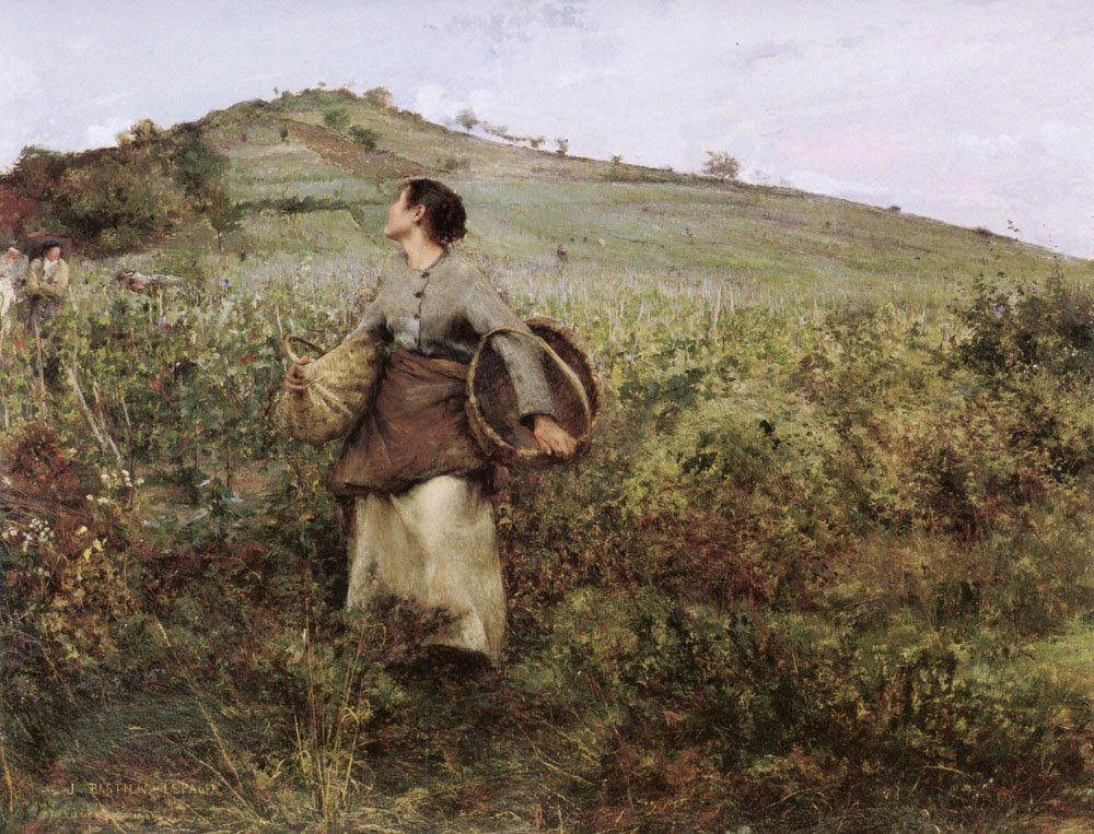 At Harvest Time   Jules Bastien Lepage   Oil Painting