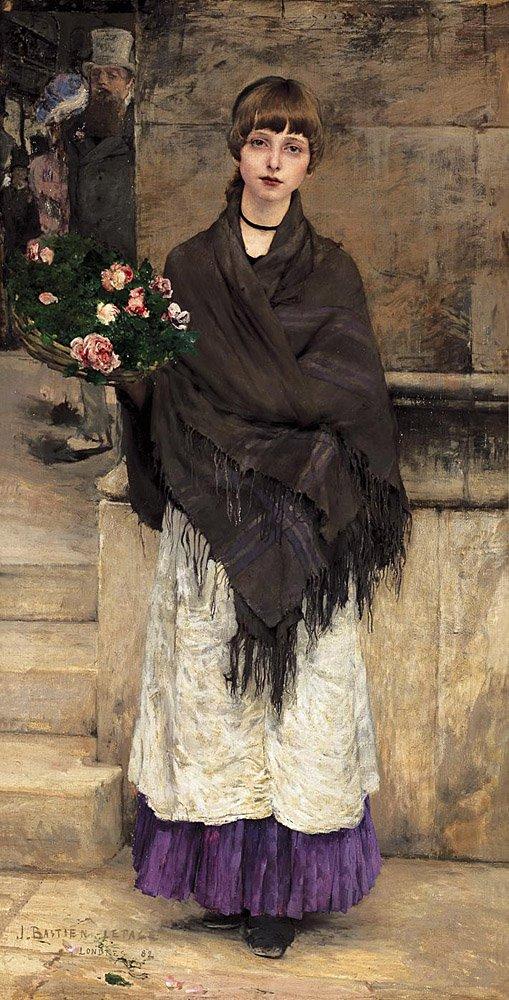 Marchande de Fleurs a Londres 1882 | Jules Bastien Lepage | Oil Painting
