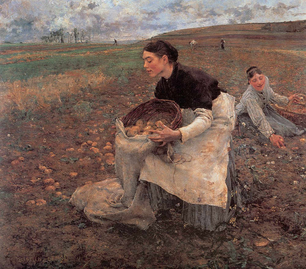Saison dOctobre Recolte des Pommes de Terre | Jules Bastien Lepage | Oil Painting