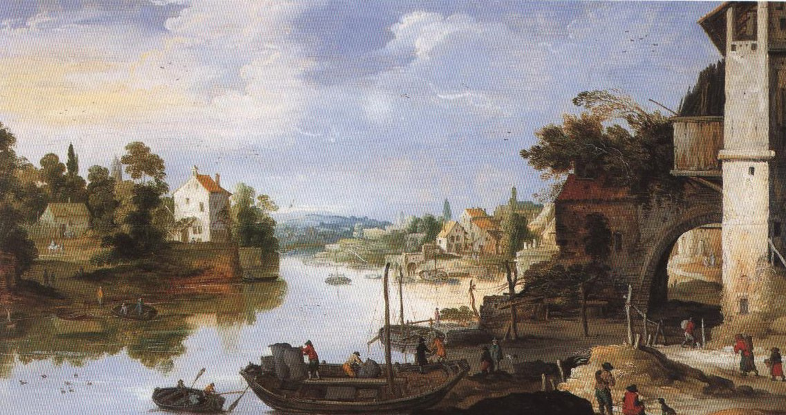 View Of A Village On A River | Joos De Momper | Oil Painting