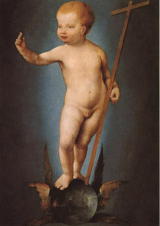 Infant Saviour On Winged Orb | Joos Van Cleve | Oil Painting