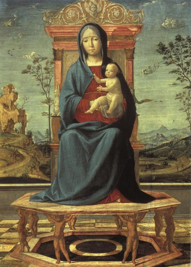Virgin Enthroned In Landscape | Lorenzo Costa | Oil Painting