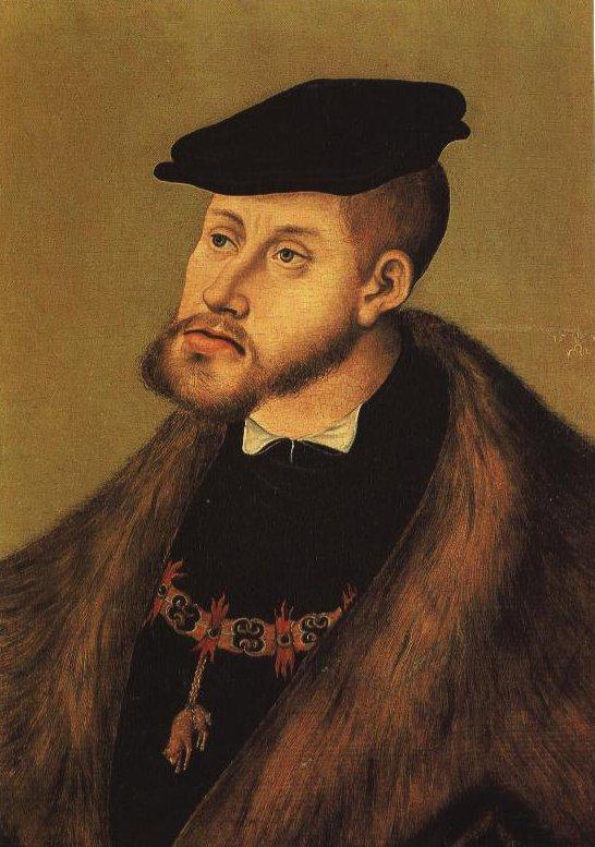 Portrait Of The Emperor Charles | Lucas Cranach The Elder | Oil Painting