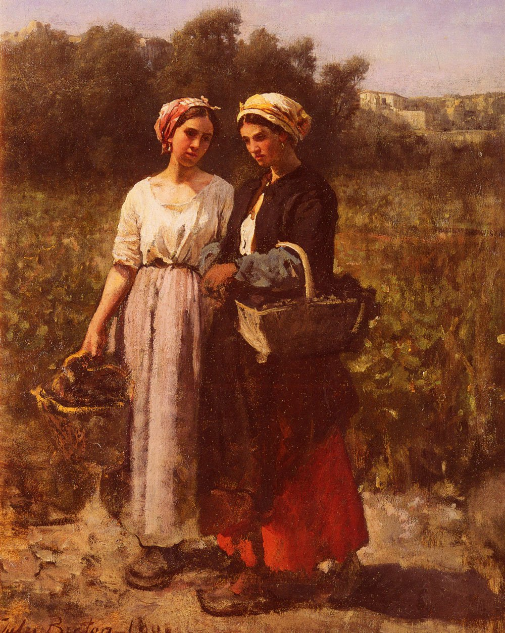 Les Vendanges A Chateau-Lagrange | Jules Breton | Oil Painting