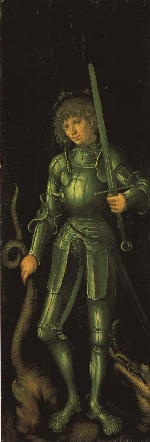 St George Right Wing Outside Panel | Lucas Cranach The Elder | Oil Painting