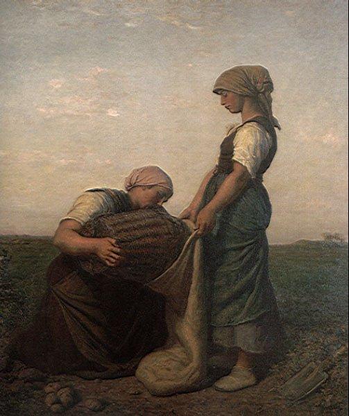 The Potato Harvest | Jules Breton | Oil Painting