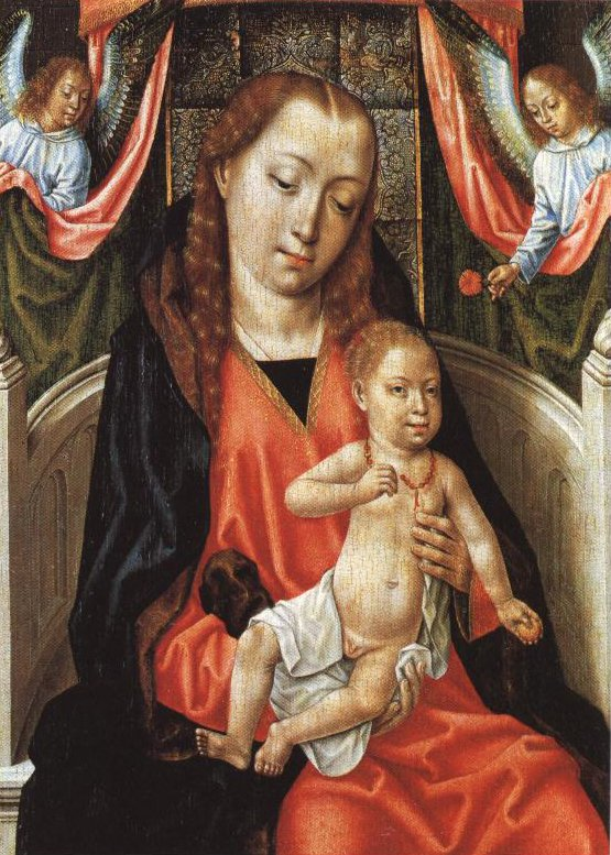 Virgin And Child With Two Angels | Master Of The St Ursula Legend | Oil Painting