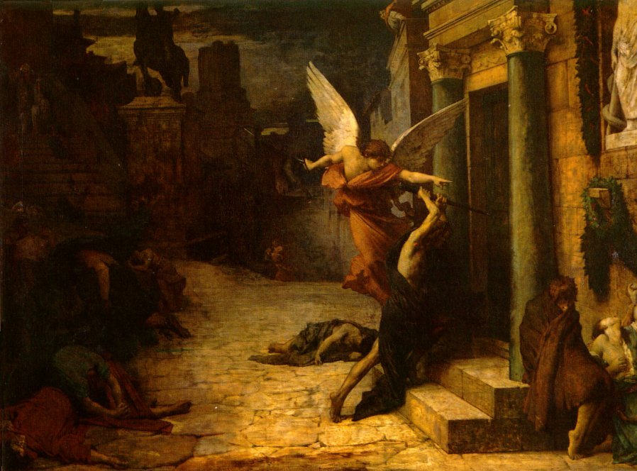 The Plague of Rome | Jules Elie Delauney | Oil Painting