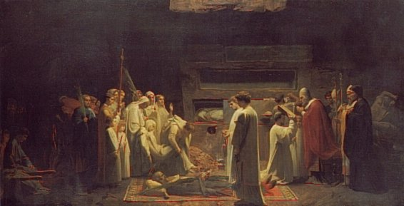 The Martyrs in the Catacombs | Jules Eugene Lenepveu | Oil Painting