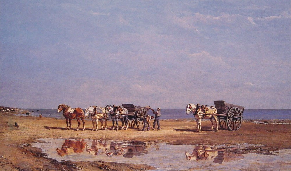 Loading the Wagon | Jules Jacques Veyrassat | Oil Painting