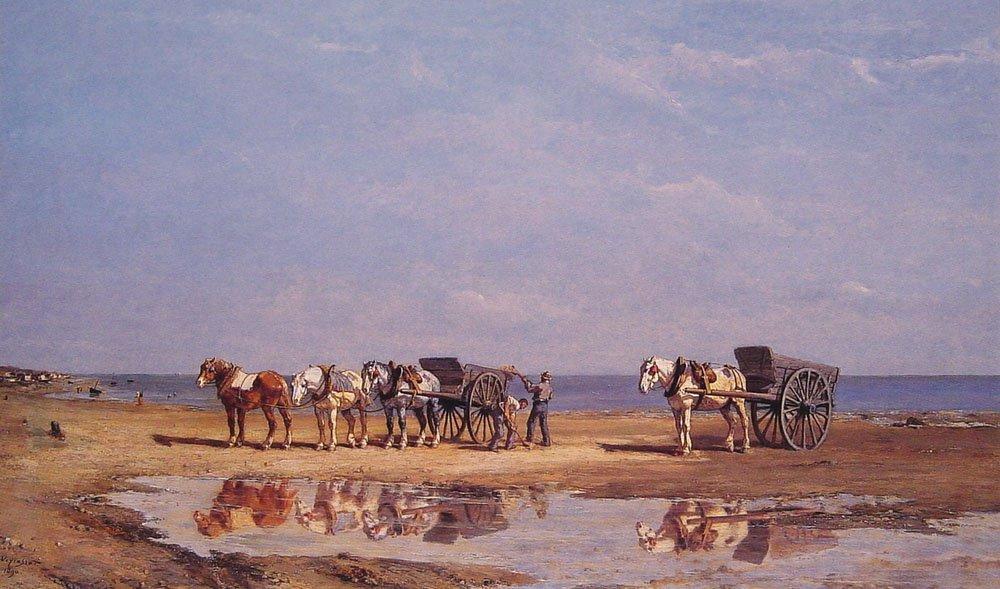 Loading the Wagon | Jules Jacques Veyrassat | Oil Painting