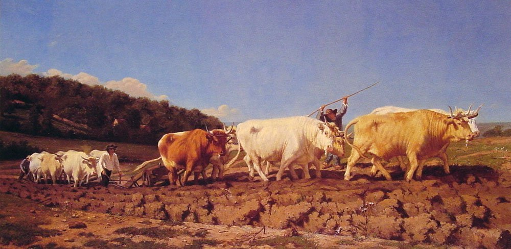 Ploughing in the Nivernais | Jules Jacques Veyrassat | Oil Painting