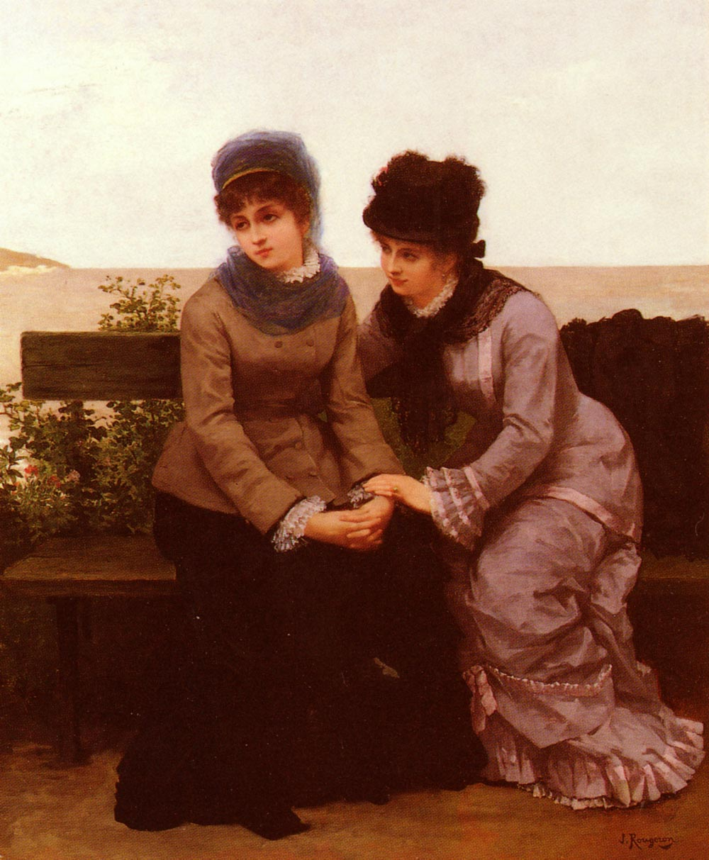 Deux Jeunes Filles | Jules James Rougeron | Oil Painting