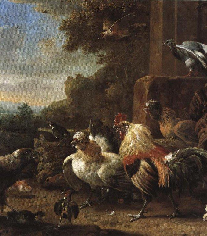 Bird Of Prey In A Poultry Yard | Melchior De Hondecoeter | Oil Painting
