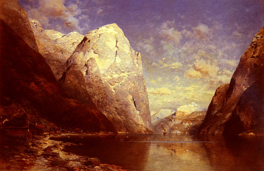 A Norwegian Fjord | Julius Rose | Oil Painting