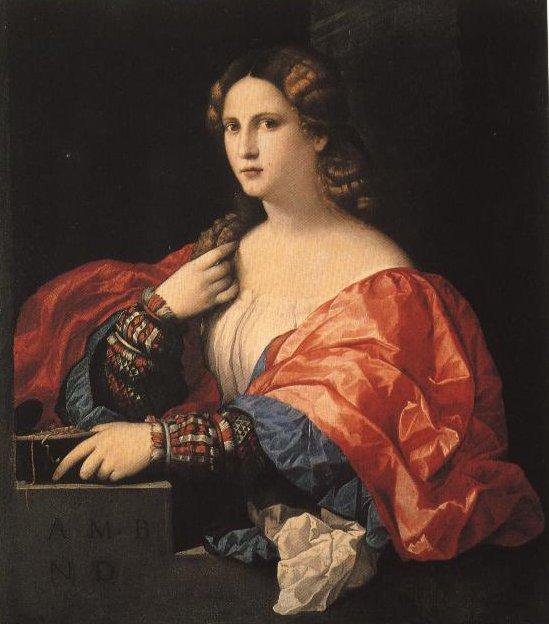 La Della Portrait Of A Young Woman | Palma Il Vecchio | Oil Painting
