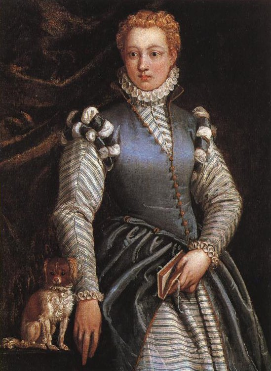 Portrait Of A Young Lady With Lap Dog | Paolo Veronese | Oil Painting